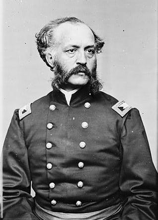 General Hiram Berdan sitting