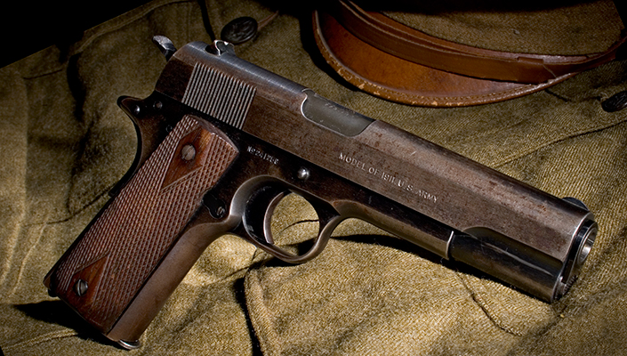 Alvin York brown colt pistol